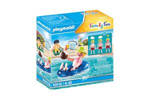 Playmobil PM Family Fun - Badgast met zwembanden 70112