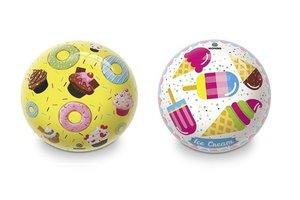 Bal (PVC) Ø 23cm - snoep design (donut/ice cream) - 1 exemplaar