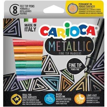 """Carioca Viltstiften """"Metallic"""" met fijne punt - 8stuks in karton etui"""