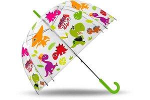 Dino paraplu - 38 cm transparant