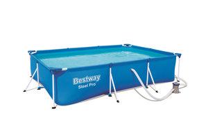 Bestway Bestway Steel Pro Frame Deluxe Splash (300x201x66cm) met filterpomp