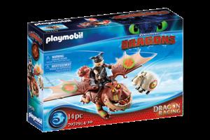 Playmobil PM DreamWorks Dragon Racing - Vissenpoot & Speknekje 70729