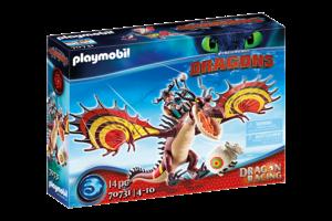 Playmobil PM DreamWorks Dragon Racing - Snotvlerk & Haaktand 70731