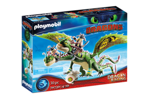 Playmobil PM DreamWorks Dragon Racing - Schorrie & Morrie met Bur 70730