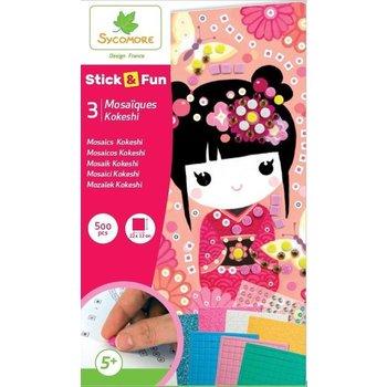 Au Sycomore Stick & Fun - Kokeshi (3 mozaïeken) 500stuks