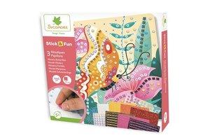 Au Sycomore Stick & Fun - Vlinders (3 mozaïeken) 1000stuks