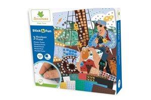 Au Sycomore Stick & Fun - Piraten (3 mozaïeken) 1000stuks