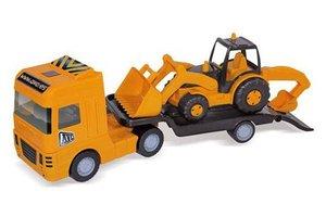AVC Maxi trailer met platform en tractor (66x18x30cm)