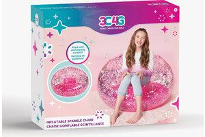 Make it Real Make it Real - Opblaasbare glitter confetti stoel (roze)
