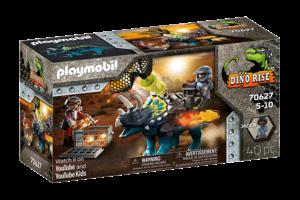 Playmobil PM Dino Rise - Triceratops Razernij rond de legendarische stenen 70627