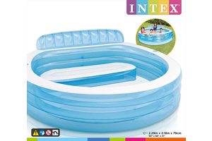 Intex Zwembad (229x218x79cm) FAMILY LOUNGE - blauw
