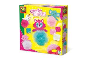 SES Creative SES Creative Glitter tule pompons