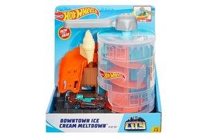 Mattel Hot Wheels City - Downtown Ice Cream Meltdown Playset
