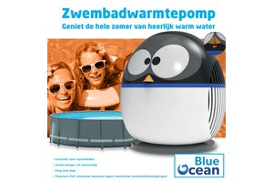 Blue Ocean Blue Ocean Warmtepomp 4kW (tot 15m³) - Pinguïn