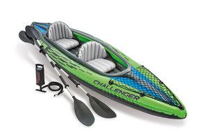 Intex Kayak set CHALLENGER K2 (351x76x38cm) - groen