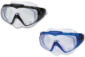 "Intex Intex duikbril ""silicone"" Aquaflow Sport (zwart OF blauw)"