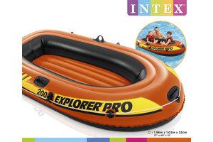Intex Roeiboot EXPLORER PRO 200 (196x102x33cm) - oranje