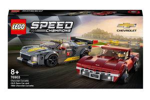 LEGO LEGO Speed Champions Chevrolet Corvette C8.R racewagen & 1968 Chevrolet - 76903