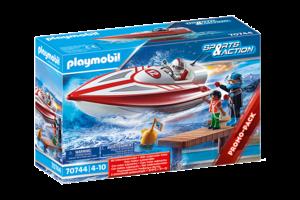 Playmobil PM Sports & Action - Speedboot met onderwatermotor 70744