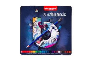 Bruynzeel Bruynzeel Teens Kleurpotloden in blauw blik - 24stuks (assorti)