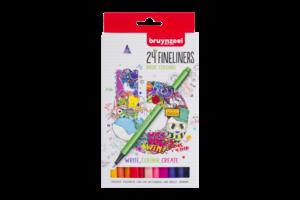 Bruynzeel Bruynzeel Fineliner - set van 24 kleuren