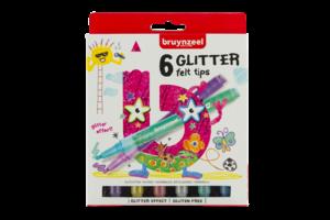 Bruynzeel Bruynzeel Kids Viltstiften Glitter - 6stuks