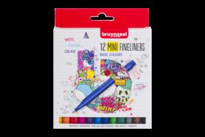 Bruynzeel Bruynzeel Fineliner Mini - set van 12 kleuren