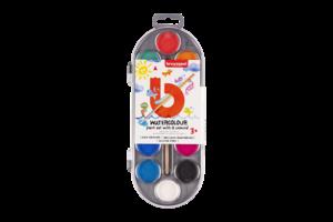 Bruynzeel Bruynzeel Kids Waterverfdoos met 12 kleuren + 1 penseel