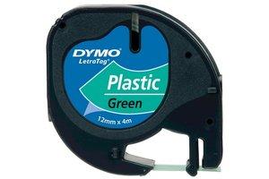 """DYMO Dymo Tape """"LetraTag"""" 12mm x 4m - (PVC) felgroen"""