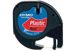 """DYMO Dymo Tape """"LetraTag"""" 12mm x 4m - (PVC) komeetrood"""