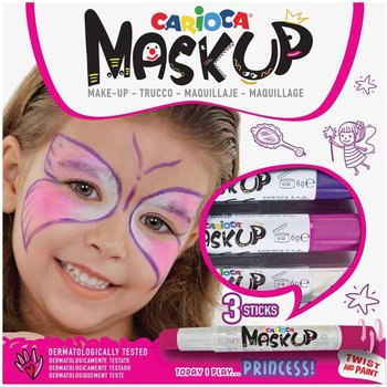 """Carioca Carioca Mask Up schminkstiften """"Princess"""" - 3stuks (paars/roze/wit)"""