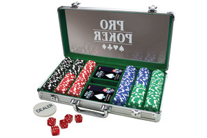 Tactic Pro Pokerkoffer alu met 300 jetons