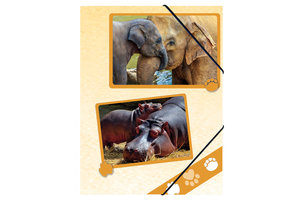 Pagna Pagna Elastomap PP/A4 met 3 kleppen - Zoodieren