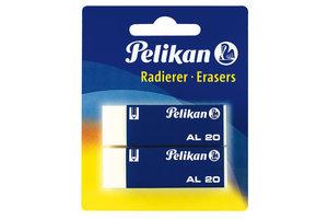 Pelikan Pelikan Radeergom AL20/wit - 2stuks