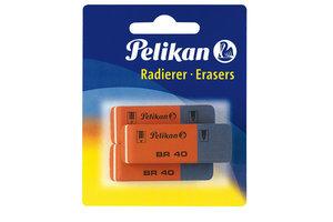 Pelikan Pelikan Radeergom BR40 (rood/blauw) - 3stuks