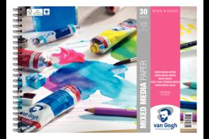 Van Gogh Mixed Media Papier A4 300gr/30 vel - wit