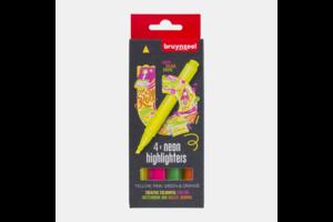 Bruynzeel Bruynzeel Markeerstift Highlighter Neon - 4stuks