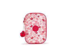 Kipling Pennenzak 100 PENS - Pink Leaves