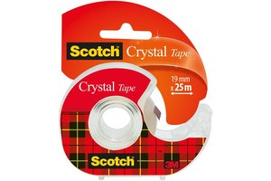 Scotch Scotch Plakband 600 Crystal Clear 19mm x 25m + afroller