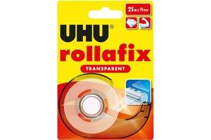 UHU UHU Rollafix Transparant 19 mm x 25m (blister)