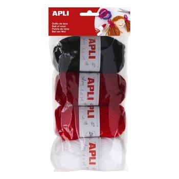Apli Apli Kids Wol 4x50gr - assorti rode tinten