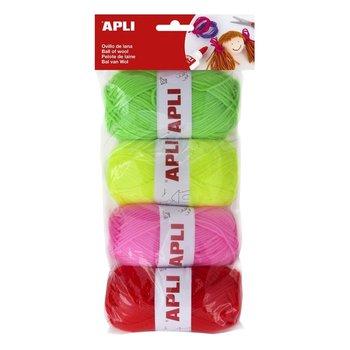 Apli Apli Kids Wol 4x50gr - assorti fluo tinten