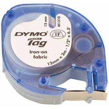 "DYMO Dymo Opstrijktape ""LetraTag"" 12mm x 2m - zwart op wit"