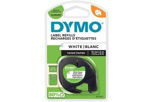 """DYMO Dymo Tape """"LetraTag"""" 12mm x 4m - (papier) wit"""