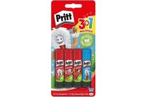 "Pritt Pritt Lijmstift ""Original"" 3x11gr + 1x10gr ""Wonderfull world"""
