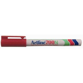 "Artline Artline Permanente Marker ""700N"" ronde punt, lijndikte 0.7mm - rood"