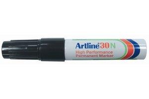 "Artline Artline Permanente Marker ""30N"" schuine punt, lijndikte 2-5mm - zwart"