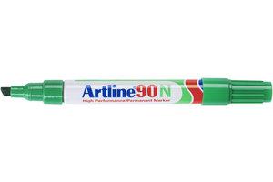 """Artline Artline Permanente Marker """"90N"""" met schuine punt, lijndikte 2-5mm - groen"""