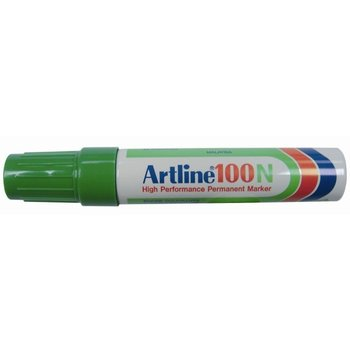 """Artline Artline Permanente Marker """"100N"""" schuine punt, lijndikte 7.5-12mm - groen"""