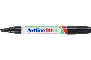 """Artline Artline Permanente Marker """"90N"""" met schuine punt, lijndikte 2-5mm - zwart"""